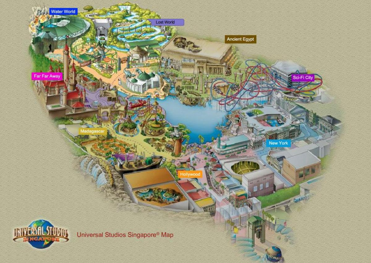 el resorts world sentosa mapa